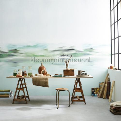 nile green fotomurais dgear1012 Moderno - Abstrato Khroma