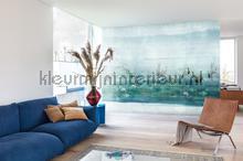 waterside aqua Links fotobehang dgium1011 Oosters - Trompe loeil Khroma