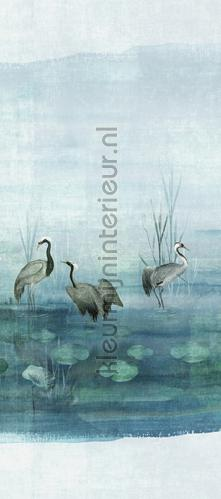 waterside aqua Rechts fotobehang dgium1013 Oosters - Trompe loeil Khroma