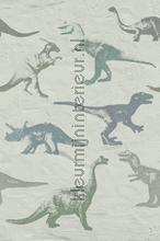 Wallpower Junior Dino Fossils Grey fotobehang Eijffinger dino