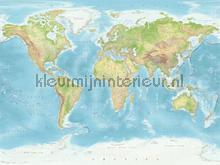 Wallpower Junior World Map photomural Eijffinger Wallpower Junior 364196
