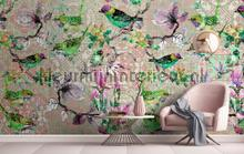 Mosaic birds 2 fotobehang AS Creation Trendy Hip