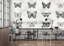 Sketchpad 3 butterflies fotobehang AS Creation Trendy Hip