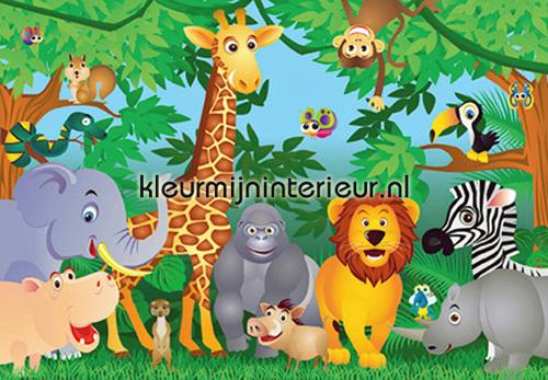 In the jungle fotobehang 122 kinderkamer jongens Ideal Decor