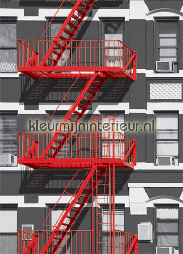 fire escape fotomurales 00432 oferta Ideal Decor