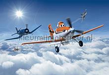 Planes above the clouds fotobehang Komar Disney-kids 8-465
