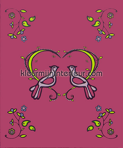 lovebirds fotobehang 380058 Wallpower mini Eijffinger