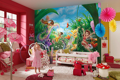 Fairies meadow fotobehang disney kids komar