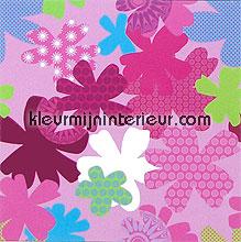 camouflage flowers fotobehang Eijffinger Wallpower mini 380040