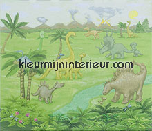 Dinojungle fotobehang Eijffinger babykamer