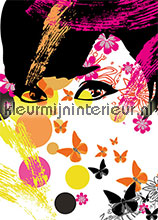 floral girl photomural Ideal Decor Ideal-Decor Poster 00439