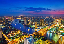 Bangkok skyline fototapet All-images