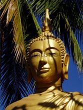 Buddha fotobehang Oosters Trompe loeil