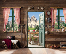 Dolomiti fotobehang Komar Oosters Trompe loeil