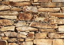 Wall of Sandstone fotobehang Mantiburi Oosters Trompe loeil
