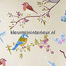 pip early bird white fotobehang Eijffinger PiP Wallpaper 386010
