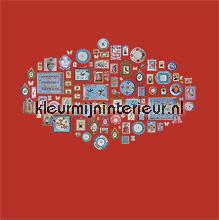 pip memories red wallcovering Eijffinger PiP Wallpaper 386100