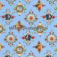 pip ruby robin blue behang Eijffinger PiP Wallpaper 386116