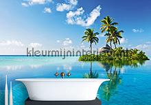Lush island fotobehang Mantiburi behang