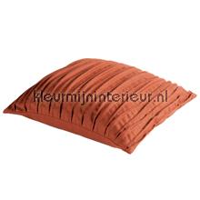 Malmo - terracotta kussen geplisseerd gordijnen Blyco kussens kant en klaar