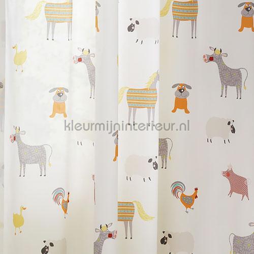 Animal Farm curtains 829425 animals Rasch