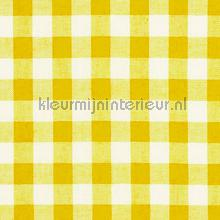 boerenbont ruit 10mm geel gordijnen