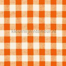 Boerenbont ruit 10mm oranje gordijnen Kleurmijninterieur landelijk