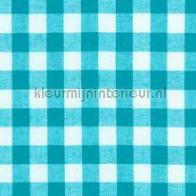 Boerenbont ruit 10mm turquoise cortinas Kleurmijninterieur cuadros y rombos