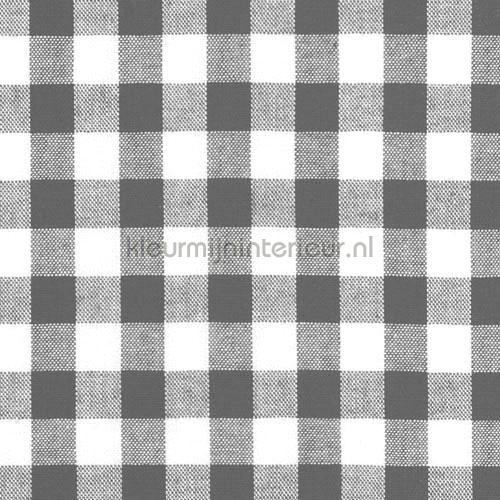Boerenbont ruit 10mm donkergrijs gordijnen 5635-68 ruiten Kleurmijninterieur
