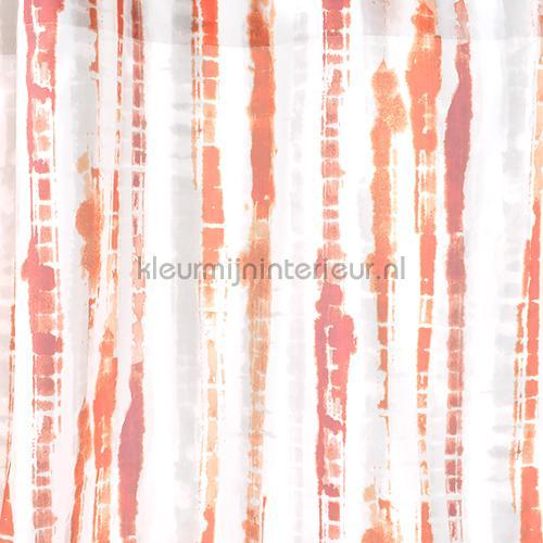 Canvas Oranje Purperrood curtains 4332-09 teenager Indes
