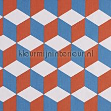 Cube Tangerine curtains Prestigious Textiles teenager