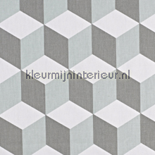 Cube Aqua table covering Prestigious Textiles cheerful