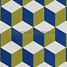 Cube Cobalt curtains Prestigious Textiles teenager