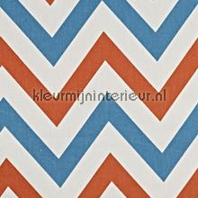 Jazz Tangerine gordijnen Prestigious Textiles retro