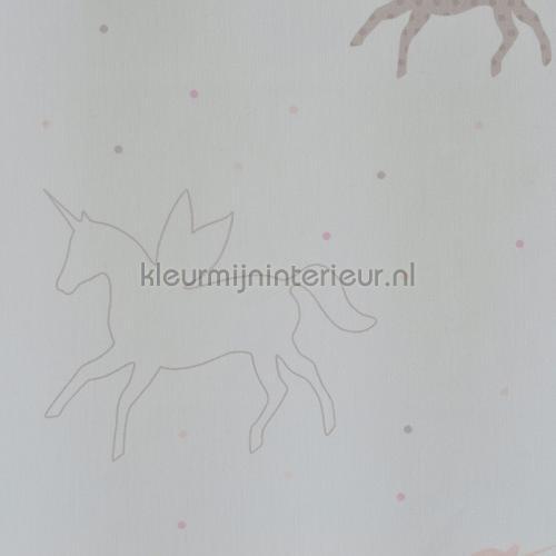 Eenhoorn silhouetten gordijnstof curtains 4510-12 animals AS Creation
