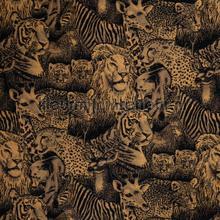 Tijgers en leeuwen gordijnstof rideau Dekortex sale curtains