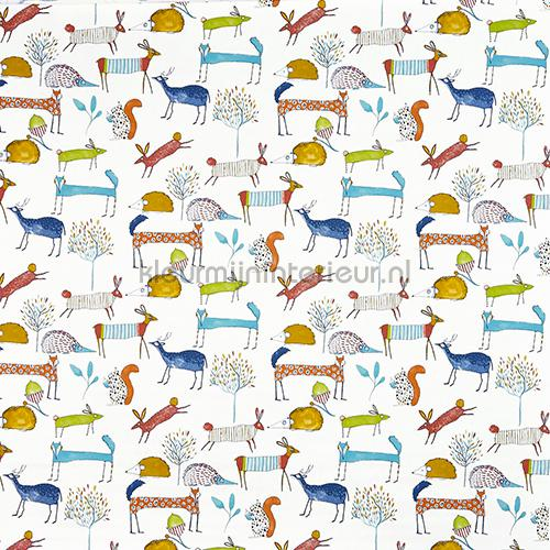 Oh My Deer Fabric Marmalade curtains 5008-413 animals Prestigious Textiles