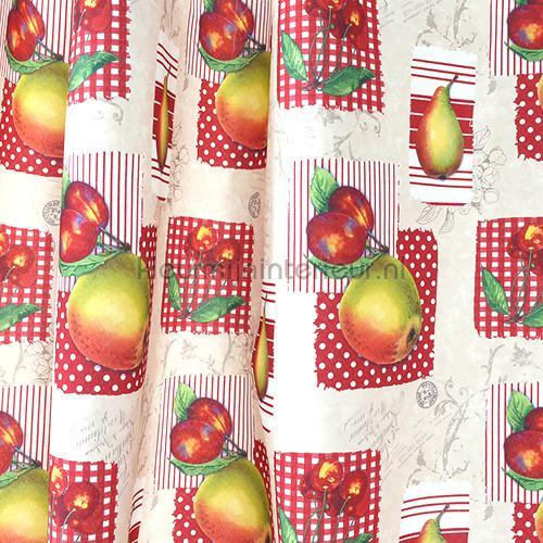 Apples gordijnen 431502 Keuken Indes