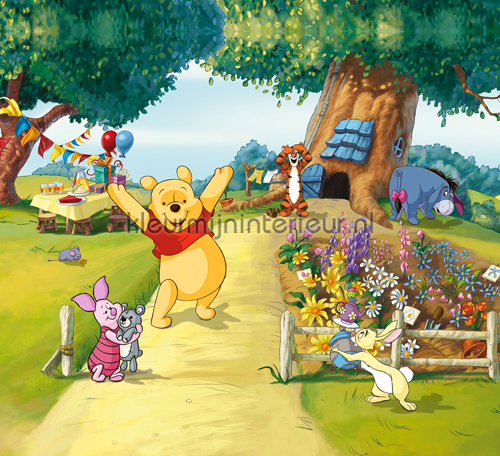 winnie the pooh has a party gordijnen fcs xl 4309 meisjes kleurmijninterieur