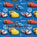 Cars res yellow and blue children's curtains