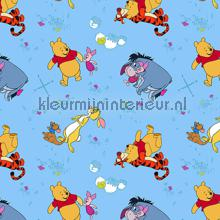 Blue Pooh curtains Kleurmijninterieur teenager