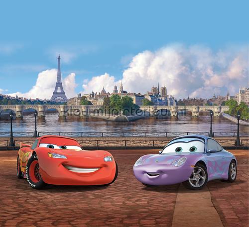Cars in Paris gordijnen Kidz Kleurmijninterieur | kleurmijninterieur.nl