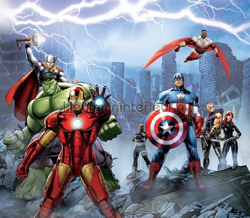 Avengers gordijnen FCS XXL 7028 Gordijnstof Top 15 Kleurmijninterieur