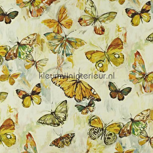 Butterfly Cloud Pineapple curtains 8567-457 Butterflies - Birds Prestigious Textiles
