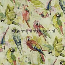 Macaw Hibiscus gordijnen Prestigious Textiles romantisch