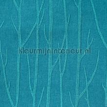 Maros Bomen Turquoise gordijnen Eijffinger modern