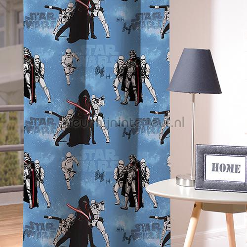 Moviestars Sunsmoke Blue gordijnen 4395-15 jongens Fuggerhaus