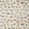 Animal alphabet curtains 8628-196 boys Prestigious Textiles