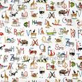 Animal alphabet boys childrens curtains