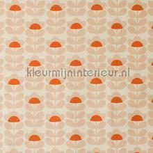 Sweetpea orange cortinas Eijffinger retro
